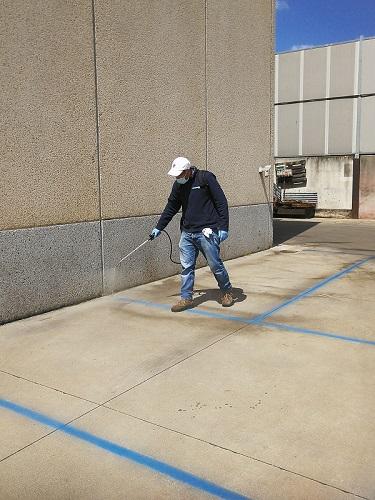 pulizia pavimenti esterni Six Lands